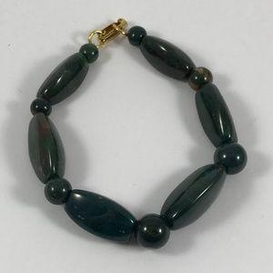 Vintage Jasper Gemstone Bracelet, Vintage Jewelry